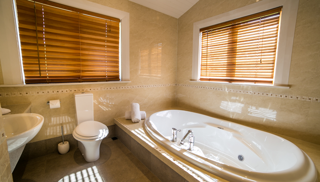 Relaxing bathrooms at this luxury Takaka accommodation