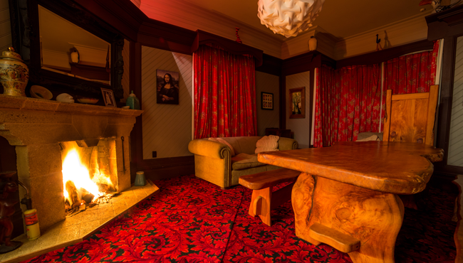 Relax in front of a real fire at your Takaka bed & breakfast accommodation