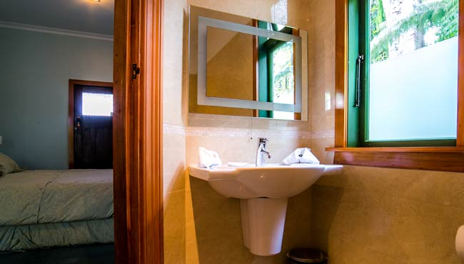 Luxurious bathroom in your Takaka accommodation
